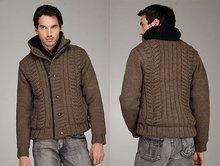 cashmere yarn-knit button fashion sweater