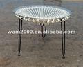 jardim rattan redonda mesa de café para ao ar livre