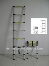 2.0M 6 steps aluminium collapsible ladder