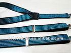 2012 fashion 2.5cm width ladies blue glitter elastic suspender belt,your own design/OEM are welcome,