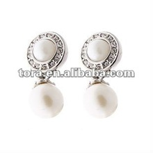 2012 fashion pearl with crystal Earrings