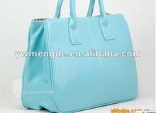 2012 hot selling fashion women leisure leather handbag