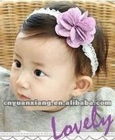100% Handmade DIY lovely stretchy elastic infant headbands(YXH1239)