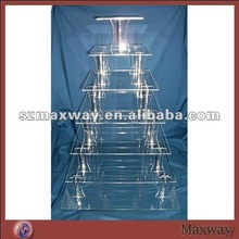 Square 7-Tier Plexiglass Cupcake/Food Display Shelf