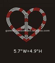 2012 the most fashional rhinestone motives heart