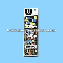 2012 hot sale religion items jewish ceramic mezuzah