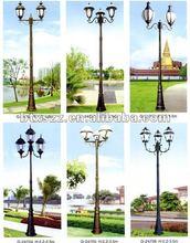 garden outdoor cast iron steel Lamp lighting pole