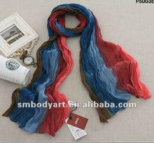 new fashion voile gadient printed pashmina drape s scarf