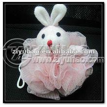 Baby Mesh Bath Sponge, animal shape baby sponge