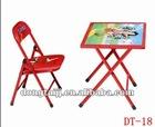 Popular Carton Style Children Folding Wood Desk and chair set