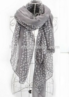 Star star design dye printing scarf shawl