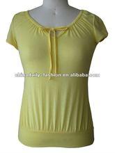 2012 Latest Design Ladies T Shirt 100%cotton or viscose