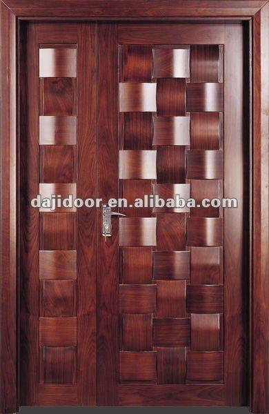 Exterior de entrada puertas de madera maciza dise o dj - Diseno de puertas de madera ...