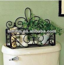 2012 china manufacturer hand hammered wrought iron flower rack for garden