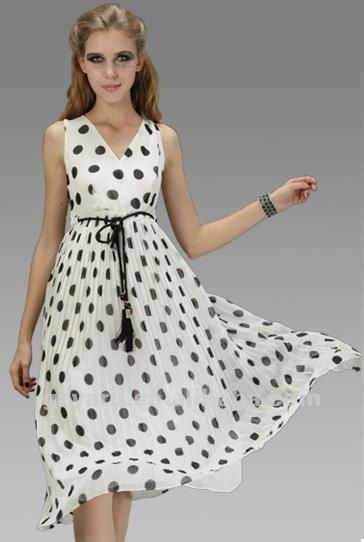 swing vestido de las mujeres a largo mangas cortas plisado vintage más tamaño