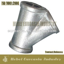 EN 10242 Galvanized Malleable Cast Iron Pipe Fitting Y Connector Fitting