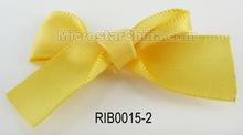 Handmade decoration curling yellow stain fabric ribbon bow