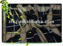 100% polyster check printed mirco polar fleece blanket fabric