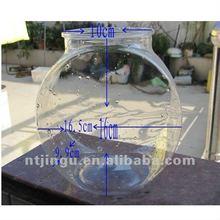 transparent plastic aquarium