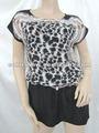 Chemisiers de léopard, chemisiers élégants de mode de femmes