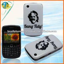 For Blackberry Curve 8520 White&Black IMD Hard Bang Tidy Mobile Phone Case