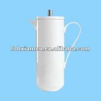 Amoycrafts white ceramic french pottery coffee press