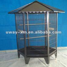 Black powder coated metal pet cage for parrots