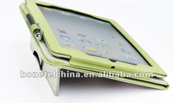 multi-function leather cellphone protect sleeve for ipad 3 sleeve many colors available