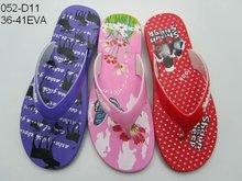 Jieyang new designs EVA women flip flop slippers 2012