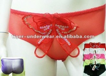 0.2usd/pc cheapest butterfly shape sexy transparent ladies fashion underwear
