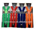 wholesale lower MOQ cheap 2.5cm width elastic suspenders/braces(have in stock)
