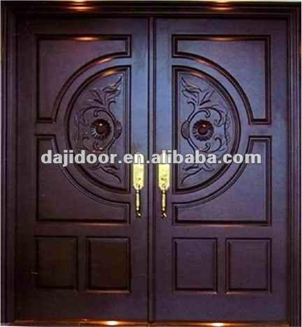 Puerta madera doble exterior images for Puertas dobles de madera modernas