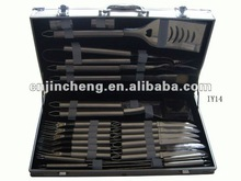 18pcs stainless steel BBQ set with alu box packing