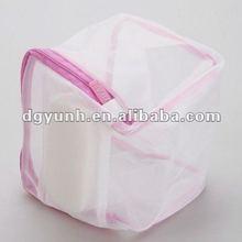 Dustproof Foldable printing mesh fabric bra storage bag wholesale