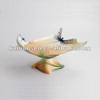 Dragonfly Porcelain Pedestal Cake Plate