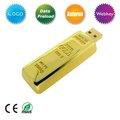 Hot gold bullion, barra de ouro usb flash drive
