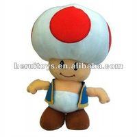 Toad Super Mario Bros Nintendo 7 Inch stuffed plush toy Standing