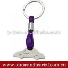 Lovely promotional metal car key chains decoration
