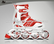 The red color with good quality rollerblade skates