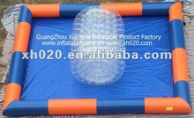 2012 hot sale crazy fun double layered Inflatable water roll ball wr032