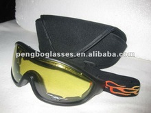 Motorcycle glasses with case