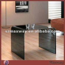 Modern smooth black durable acrylic tea table