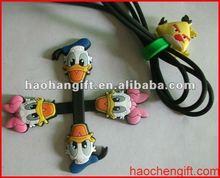 2012 Fashion cartoon silcone earphone cable winder