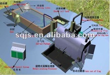 Green tech! waste plastic to fuel oil processing machine