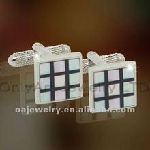 alibaba cheap wholesale mosaic shell cufflink, novelty cufflink fashion jewelry, China manufacturer