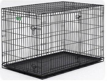 Folding dog crate