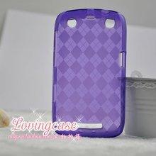 Napov -colorful diamond tpu cover case for blackberry apollo curve 9360