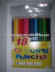 """Non-toxic 18pcs PVC Pouch Packed 7"""" Long Colour Pencils"""