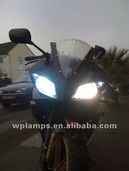 Muy Fresco de HID faros de Bi lente del proyector con ojos de angel para la motocicleta