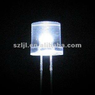 Ultra White LED 5mm Flat Top